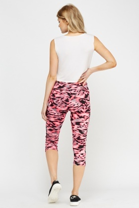 Mixed Print Sport Leggings