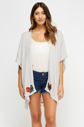 Applique Pom Pom Cover Up