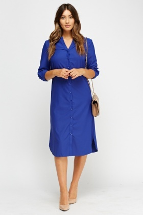 Royal Blue Shirt Dress