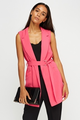 Belted Fuchsia Gilet