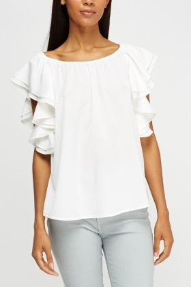 Frilled Side Elasticated Top