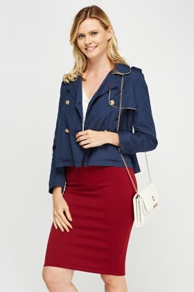 Double Breasted Cropped Jacket