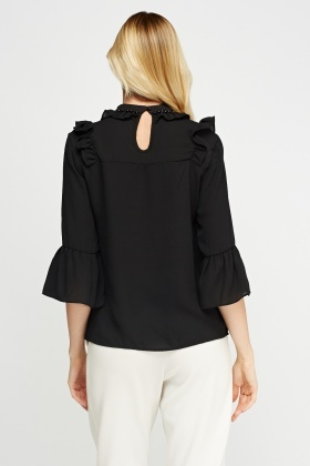 Frilled Collar Blouse
