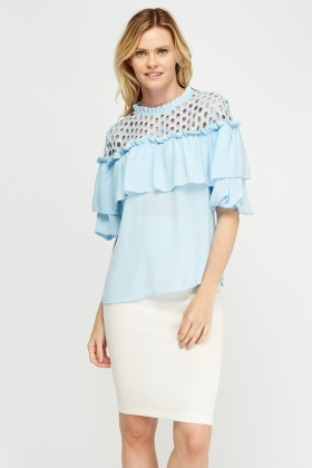 Mesh Insert Flared Top