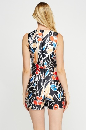 Plunge Scuba Printed Playsuit