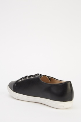 Court Faux Leather Trainers