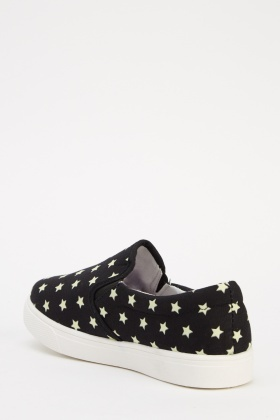 Star Printed Slip On Shoes