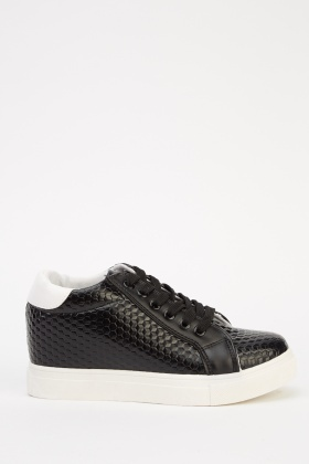 Textured Wedge Trainers