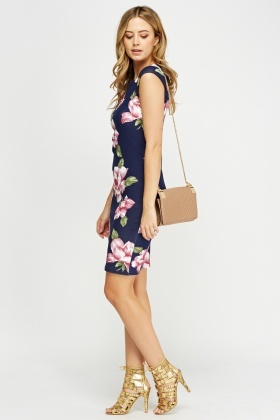 Cap Sleeve Floral Dress