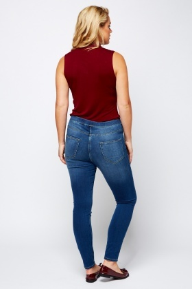 Denim Blue Slim Fit Jeggings