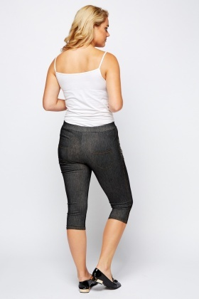 Pocket Side Contrast Leggings