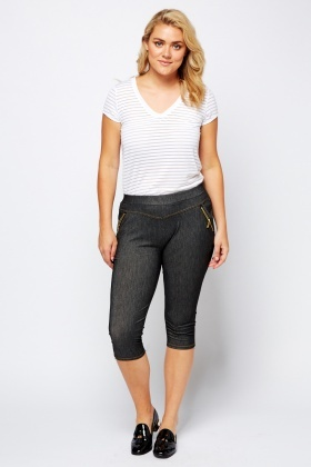 Zip Detailed Casual Leggings