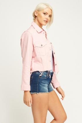 Light Pink Distressed Denim Jacket - Just £5