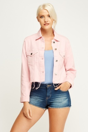 Pink jacket with jeans