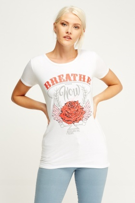 Printed Front T-Shirt