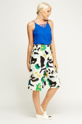 Printed Textured Culottes