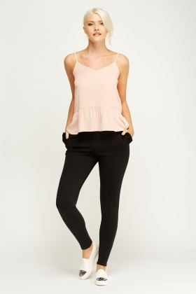 Ruched Side Fitted Trousers