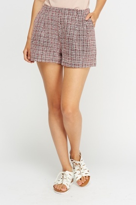 High Waisted Woven Shorts