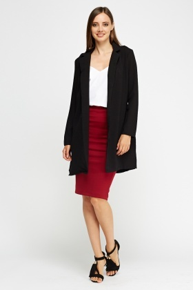 Open Long Line Blazer