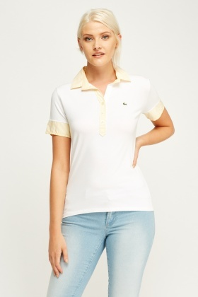 Lacoste Striped Trim Polo T-Shirt