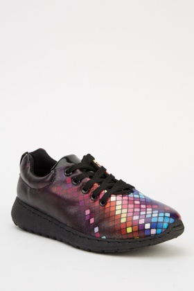Multi Coloured Low Top Trainers