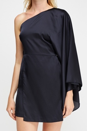 Flared One Shoulder Dress