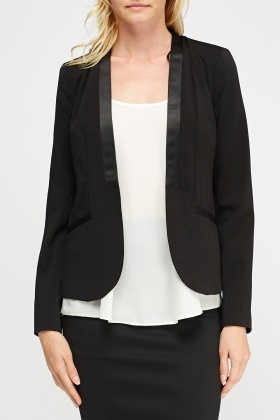 Formal Contrast Trim Blazer