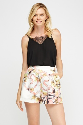 Sateen Printed Shorts