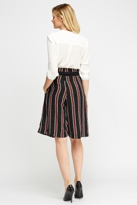 Striped Belted Culottes