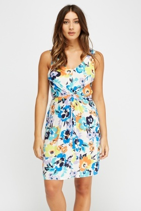 Cut Out Back Floral Swing Dress