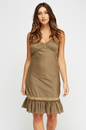 Ruched Hem Sun Dress