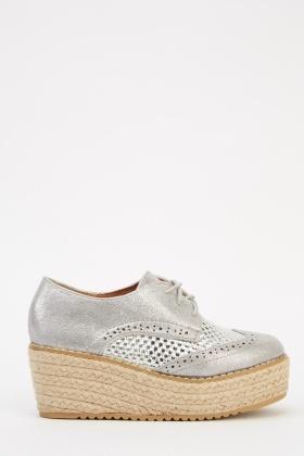 ed43352c9ea4 Espadrille Contrast Platform Shoes - Just £5