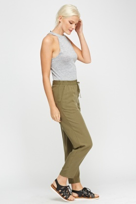 Casual Olive Trousers