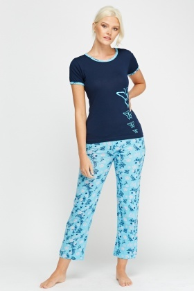 Top And Trousers Printed Pyjama Set