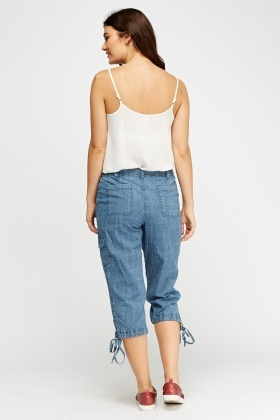 Cropped Denim Casual Jeans
