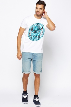 Diesel Contrast White T-Shirt