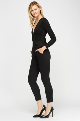 Wrapped Fitted Jumpsuit