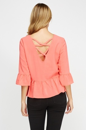 Detailed Back Flared Top