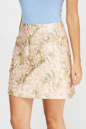 Metallic Insert Embossed Skirt