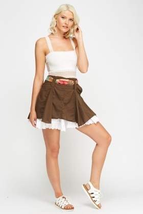 Asymmetric Swing Mini Skirt