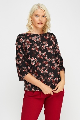 Floral Printed Blouse Top