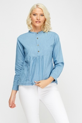 Ruched Detail Casual Top