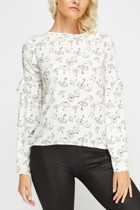Umbrella Printed Blouse