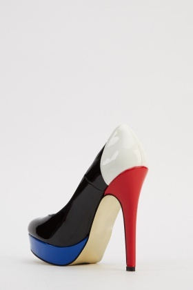 Colour Block High Heels