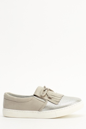 Contrast Loafer Shoes