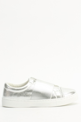 Metallic Basic Elastic Trainers