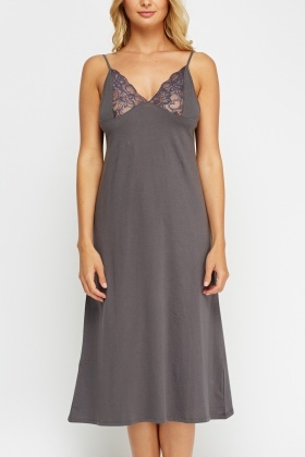 Lace Insert Night Dress