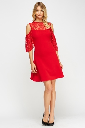Sequin Lace Insert Dress