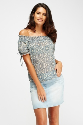 Sheer Off Shoulder Top