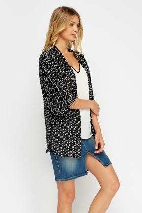 Textured Casual Cardigan